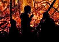 Mystik, Stimmung, Lagerfeuer, Menschen