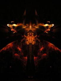 Glut, Feuer, Reflexion, Experimentell