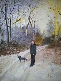 Wald, Winter, Kalt, Ture
