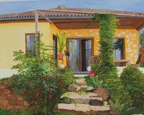 Haus, Heim, Terrasse, Mediterran
