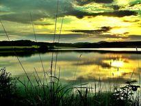 Himmel, Spiegelung sonnenuntergang, Abend, Dimension