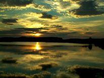 Abend, Himmel, Spiegelung sonnenuntergang, Untergang