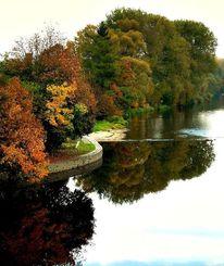 Fluss spegelung landschaft, Fotografie, Spiegelung