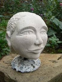Kopf, Stein, Plastik,