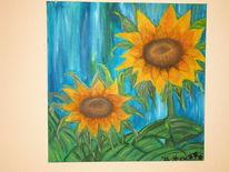 Malerei, Sonnenblumen