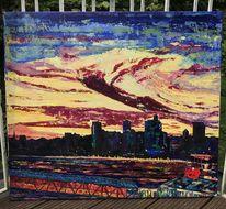 Acrylmalerei, Malerei, Landschaft, Modern