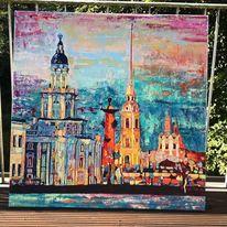 Malerei, Farben, Stillleben, Landschaft