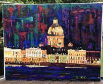Acrylmalerei, Malerei, Landschaft, Abstrakt