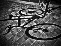 Fahrrad, Schatten, Digitale kunst