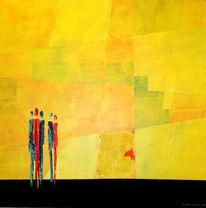 Menschen, Acrylmalerei, Plauderei, Malerei