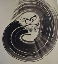 Karikatur, Japan, Daruma, Zen