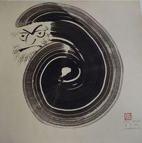 Sumi, Karikatur, Zeichnung, Japan
