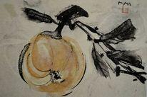 Zeichnung, Japantusche, Sumi, Japanpapier