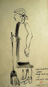 Kehrwoche, Zeichnung, Sumi, Meditation