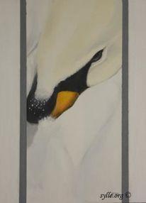Malerei, Tierwelt, Schwan