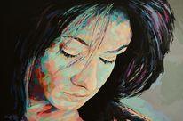 Zeitgenössisch, Portrait, Palette, Popart