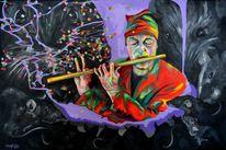 Expressionismus, Malerei, Acrylmalerei, Spieler
