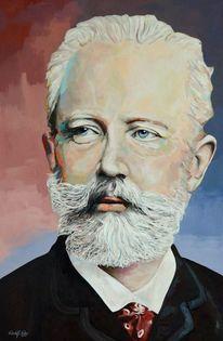 Acrylmalerei, Portrait, Klassiker, Zeitgenössische kunst