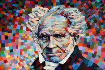 Schopenhauer, Gemälde, Portrait, Acrylmalerei