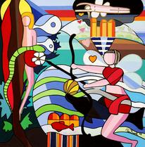 Malerei, Psyche, Amor