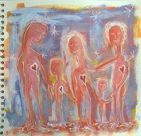 Familie, Einheit, Liebe, Malerei