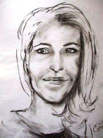 Lächeln, Frau, Gesicht, Zeichnungen