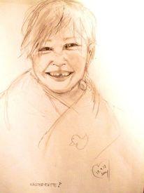 Junge, Kind, Lachen, Zeichnungen