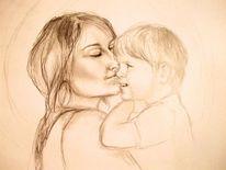 Kuss, Mutter, Kind, Liebe