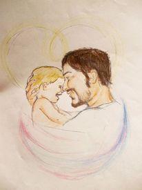 Liebe, Vater, Kind, Zeichnungen