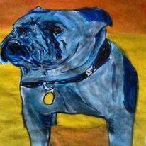 Bulldogge, Pop art, Englische bulldogge, Aquarell