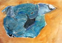 Elefant, Aquarellmalerei, Tierwelt, Pop art