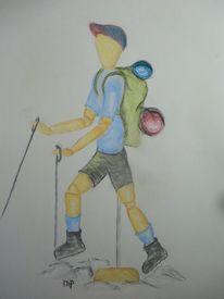 Modelpuppe, Figur zeichnen, Proportion, Rucksack