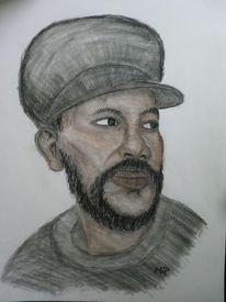 Reggae, Pastellmalerei, Portrait, Zeichnungen