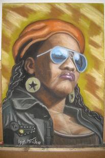 Portrait, Reggae, Pastellmalerei, Zeichnungen