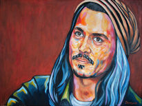 Person, Johnny depp, Modern, Portrait