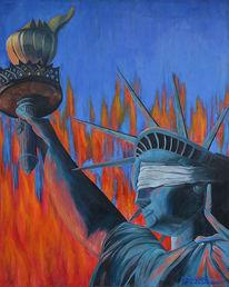 Fantasie, Gerechtigkeit, Freiheitsstatue, Krieg