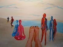 Menschen, Nationalität, Malerei, Haut