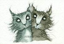 Katze, Illustrationen
