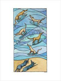 Wasser, Strand, Meer, Wolf