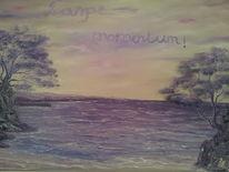 Meer, Felsen, Landschaft, Ölmalerei