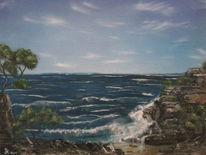 Ölmalerei, Meer oelfarben landschaft, Malerei, Natur