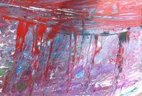 Wald, Feuer, Acrylmalerei, Malerei