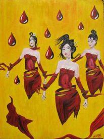 Frau, Rot, Malerei