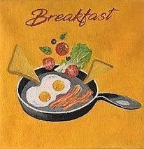 Speckstein, Frühstück, Pfanne, Ei