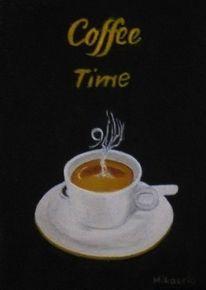 Kaffee, Tasse, Espresso, Malerei