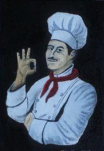 Küchenchef, Kochen, Malerei, Chef