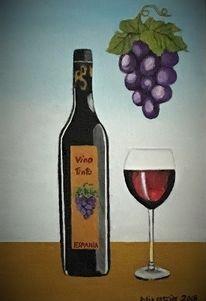 Vino, Trauben, Flasche, Wein