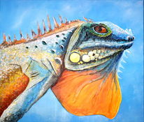 Malerei, Lichtblicke, Leguan