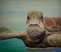 Unterwasser, Tiere, Schildkröte, Malerei