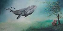 Wal, Begleiten, Ruhe, Tag